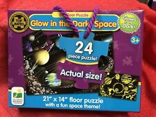Kid's 24Pc Glow In The Dark Floor Large Piece Puzzle Outer Space Planets Stars