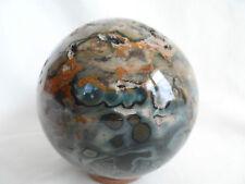 boule sphère en jaspe orbiculaire de 1.130 kg diametre 9.8 cm de Madagascar e26