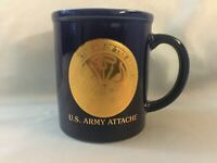 Department Of The Army United States Of America Attache Coffee Mug Gold Seal Cup