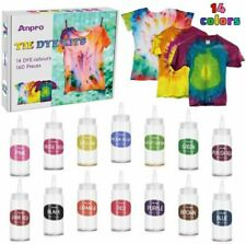 Anpro Tie Dye Kit,160pcs Tie-Dye Diy Set,14 of 100ML Dyes, Arts and Crafts...