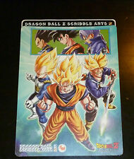 DRAGON BALL Z GT DBZ SCRIBBLE ARTS 2 JUMBO CARD CARTE STICKER JAPAN 2003 ** #001