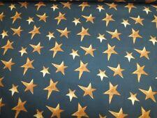 Baumwolle Sterne Stars anthrazit senfgelb Meterware Kinderstoff Kinderträume