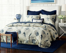 Quilted Cotton Coverlet / Bedspread Set King & Super King Size 250x270CM Ocean