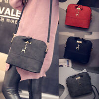 Women Shell PU Leather Shoulder Bag Tote  Messenger Crossbody Satchel Handbag