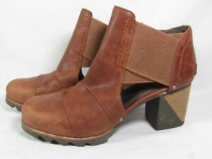 Sorel Addington Cut Out Bootie Women size 7.5 Brown Leather