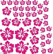40 X HIBISCUS FLOWER DECALS STICKERS WALL CAR FURNITURE lots of colours