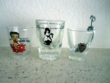 SHOT GLASS COLLECTION, PLAY BOY CLUB, BETTY BOOP AND BEVERLY HILLS