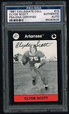 Clyde Scott signed autograph auto 1991 Collegiate Collection Card PSA Slabbed