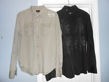 Lot of 2 Mens Shirts Casual Size 2XL/XXL Roar Energie Jean'session