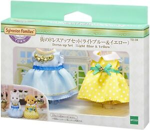 Sylvanian Families Calico Critters TD-04 Dress Up Set (light blue & yellow)