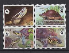 asiatique Boîte turtle MNH Bloc de 4 Timbres 2004 LAOS #1625 cuora Amboinensis