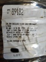 Belden 89182 22/1P 150 Ohm Twinaxial Plenum Teflon Duofoil Shielded Cable /50ft