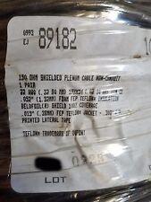 Belden 89182 22/1P 150 Ohm Twinaxial Plenum Teflon Duofoil Shielded Cable/1000ft