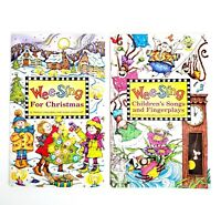 WEE SING LOT OF 2 Sing Along Song Books Only Children Songs & Christmas Songs