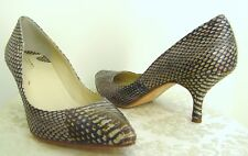 377865d6bf Max Studio - NEW All Leather Pump Kitten Heels Snakeskin TOFFEE 6M-$189  value