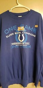 Peyton Manning Indianapolis Colts NFL Super Bowl XLI Sweater Pullover Size XL