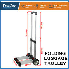 Portable Folding Luggage Cart Hand Trolley Wheel Truck Heavy Duty Load 80kg