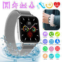 Bluetooth Smart Watch Fitness Heart Rate Tracker Waterproof for iPhone Samsung