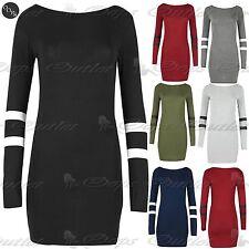 Women's Scoop Neck Viscose Striped Stretch, Bodycon Dresses
