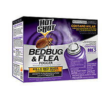 Hot Shot Bed Bug and Flea Killer 2 oz Cans Aerosol Fogger Extermination 3 Pack