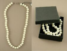 "16"" Pearl knotted bead necklace.Gift Boxed - JTY363"