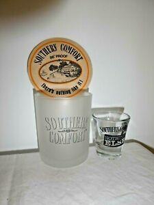 2 Southern Comfort Sturdy Hotel Quality Glasses 200ml & Shot + 1 Card Coaster
