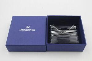 DESIGNER SWAROVSKI Iconic Black Swan Necklace w/ Rhinestone, BNIB, Branded, Jet