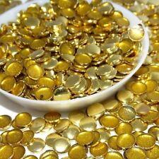 Hotfix Silver Gold 200pcs 6mm Round Flatback Hotfix Metal Studs Iron-on Transfer
