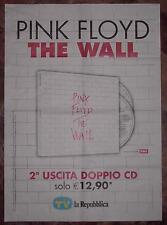 PROMO POSTER PINK FLOYD The Wall Waters Gilmour CD DVD LP Vinyl