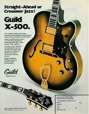 1978 STRAIGHT AHEAD OR JAZZ THE GUILD X-500 GUITAR AD