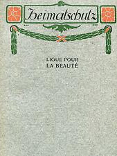 HEIMATSCHUTZ [CH] 1908 Heft VIII: Von Schweizer Bergdörfern und ihren Bewahrern