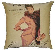 "NEW 18"" 45CM FASHION SERIES, MADAMME BERTHE, PARIS TAPESTRY CUSHION COVER 4641"