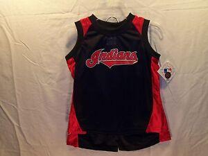 Cleveland Indians MLB Jersey & Shorts Set Youth Large (14/16)  New