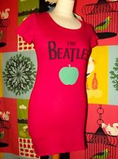 THE BEATLES ROBE APPLE   BIFACE CERISE  TXS OU 34 /38