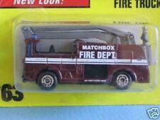 MATCHBOX SNORKEL FIRE ENGINE Maroon corpo FIRE DEPT Rescue