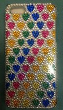 Cul-de-sac  iPhone 5 case rainbow hearts *PRICE REDUCED*