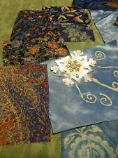 grand lot tissus patchork   teintes bleues 12piéces