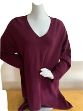 Lord & Taylor Plus Size 2x Wine Berry Cashmere Sweater L2f