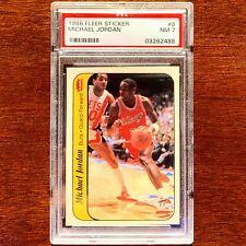 Michael Jordan 1986-87 Fleer Sticker Rookie RC Insert #8 PSA 7 Near Mint HOF