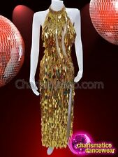 f9750e1d9868 CHARISMATICO Gold coloured charismatic designer long dress for party wear