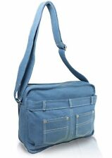 Small Soft Washed Cotton Denim Shoulder Bag Unisex Cross Body Casual Satchel