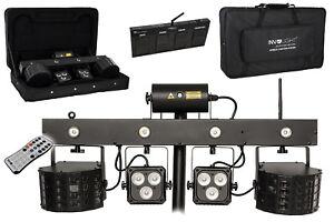 """INVOLIGHT """"MLS FX"""" Lichtanlage! 2 Derby's, 2 RGBW Spots, R/G Laser, Strobe LED's"""