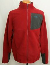 The North Face Red Puffer Fleece Casual Lightweight Full Zip Jacket Men's L