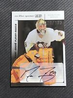 2003-04 ITG USED MARC-ANDRE FLEURY ROOKIE SIGNATURE SERIES AUTO JERSEY # 29/135