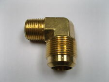 "Brass Fitting: Lead Free 45° Flare Male Elbow Tube OD 3/4"" Male Pipe 3/4"" Qty 5"