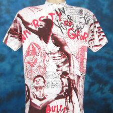 vintage 90s GEORGIA BULLDOGS BASKETBALL ALL-OVER PRINT T-Shirt M/L hip hop thin