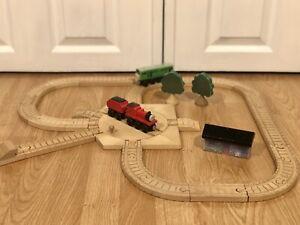 Thomas The Train Wooden JAMES GOES BUZZ BUZZ SET BOCO CLICKITY CLACK TRACK RARE