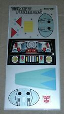 A Transformers premium quality replacement sticker/decal sheet for G1 Blurr