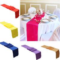 30x275cm Satin Table Wedding Banquet guests Reception Banquet Party Decoration