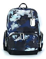"""Tumi Calais Backpack Lightweight Blue Water Color Floral Casual Fits 15"""" Laptop"""